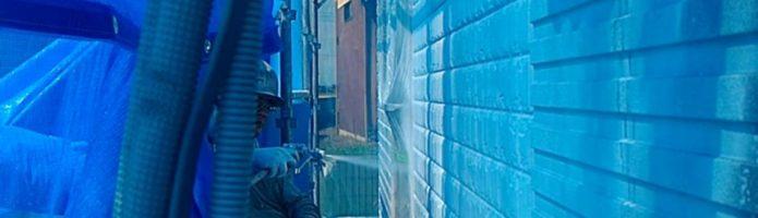 外壁塗装埼玉県川島町上狢より ALC壁下塗り作業②