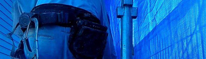 外壁塗装埼玉県川島町上狢より ALC壁上塗りエアレス塗装作業②