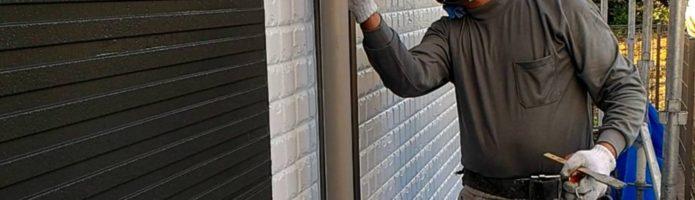 外壁塗装川島町上狢より 雨樋下塗り作業②