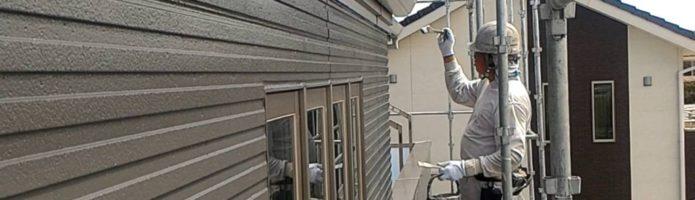 外壁塗装埼玉県川島町上狢より 雨樋塗装上塗り作業