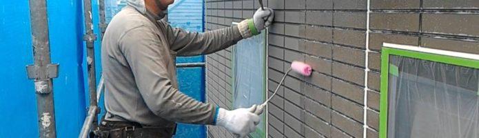 外壁塗装埼玉県桶川市北より サイディング壁下塗り作業