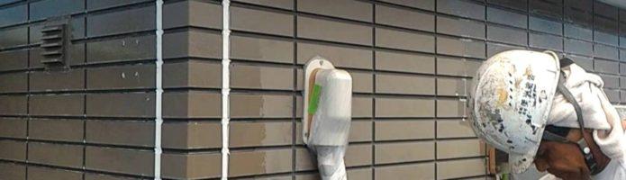 外壁塗装埼玉県桶川市北より サイディング壁下塗り作業②