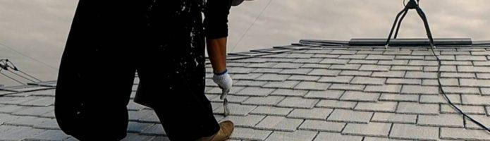 外壁塗装埼玉県桶川市北より アーバニー屋根下塗り作業