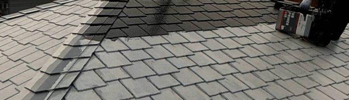外壁塗装埼玉県桶川市北より アーバニー屋根上塗り作業