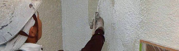 外壁塗装埼玉県八潮市八潮より モルタル壁下塗り作業