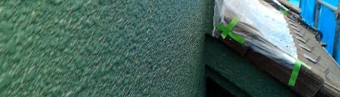 外壁塗装埼玉県八潮市八潮より モルタル壁上塗り作業