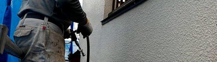 外壁塗装埼玉県ふじみ野市苗間より モルタル壁高圧洗浄作業