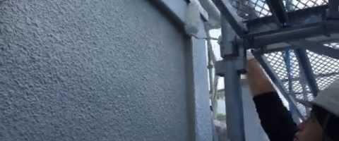 外壁塗装埼玉県ふじみ野市苗間より モルタル壁下塗り作業