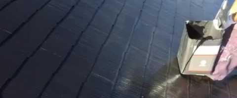 外壁塗装埼玉県白岡市新白岡より コロニアル屋根無機ハイブリットコート塗装