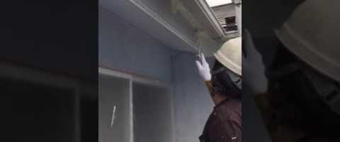 外壁塗装埼玉県白岡市新白岡より 破風板塗装作業