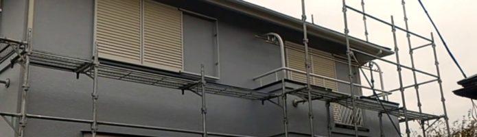 外壁塗装埼玉県白岡市新白岡より 仮設足場解体作業