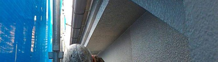 外壁塗装埼玉県ふじみ野市苗間より モルタル壁上塗り作業②