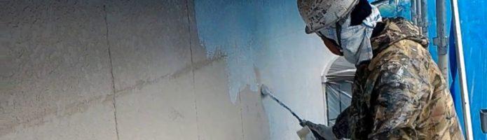 外壁塗装埼玉県上尾市西宮下より 外壁下塗り作業