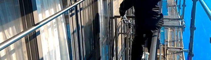 外壁塗装埼玉県吉見町下細谷より 高圧洗浄作業