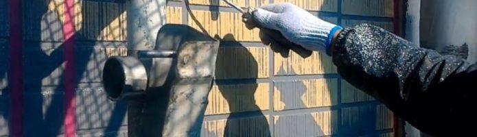 外壁塗装埼玉県吉見町下細谷より タイル調サイディング再現塗装②