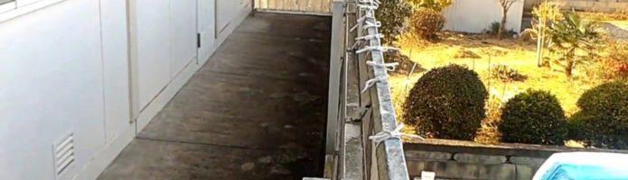 外壁塗装埼玉県吉見町下細谷より 共用廊下高圧洗浄作業②
