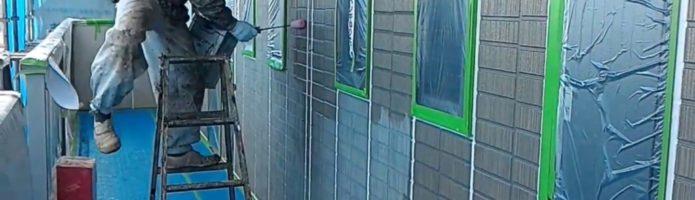 外壁塗装埼玉県吉見町下細谷より サイディング壁下塗り作業