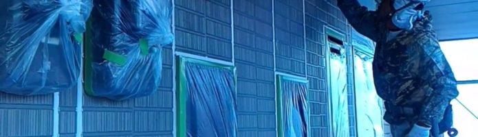 外壁塗装埼玉県吉見町下細谷より サイディング壁シーラー塗装