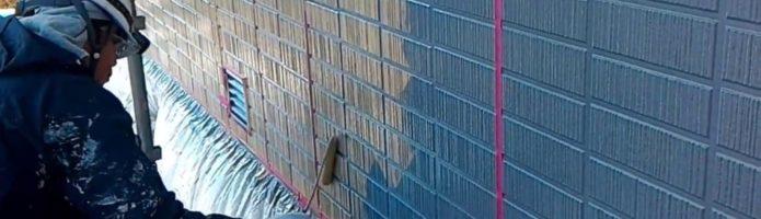 外壁塗装埼玉県吉見町下細谷より タイル調サイディング再現塗装③