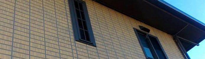 外壁塗装埼玉県吉見町下細谷より タイル調サイディング再現塗装完了