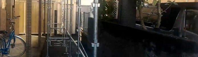 外壁塗装東京都東村山市野口町より 仮設足場設置作業