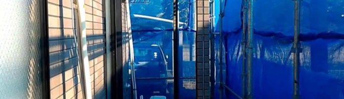 外壁塗装東京都東村山市野口町より エアコンスリムダクト取り外し作業