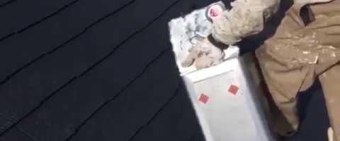 外壁塗装東京都東村山市野口町より コロニアル屋根アステック無機ハイブリットコート塗装