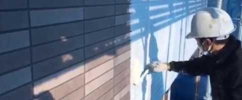 外壁塗装東京都東村山市野口町より サイディング壁シーラー塗り