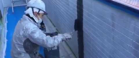 外壁塗装東京都東村山市野口町より サイディング壁伸縮目地の増し塗り