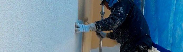 外壁塗装埼玉県所沢市上安松より アステックEC-5000PCM-IR1回目塗装