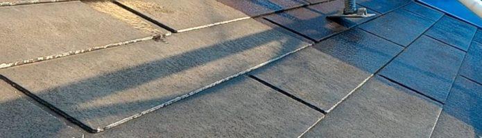 外壁塗装埼玉県狭山市北入曽より コロニアル屋根の下塗り作業