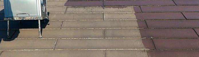 外壁塗装埼玉県狭山市北入曽より コロニアル屋根エポプレミアムシーラープライマー塗装