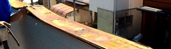 外壁塗装埼玉県富士見市諏訪より ベランダ笠木貫板腐食状況