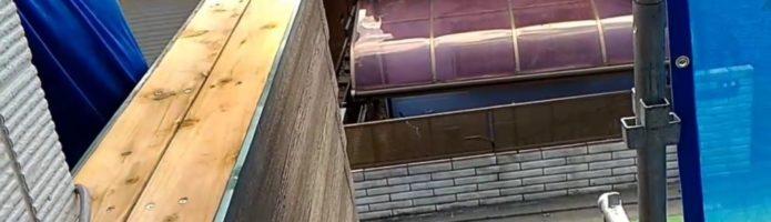 外壁塗装埼玉県富士見市諏訪より ベランダ笠木補修ルーフィング貼り作業
