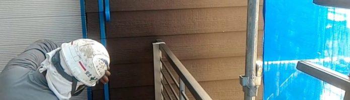 外壁塗装埼玉県富士見市諏訪より シーリング養生作業