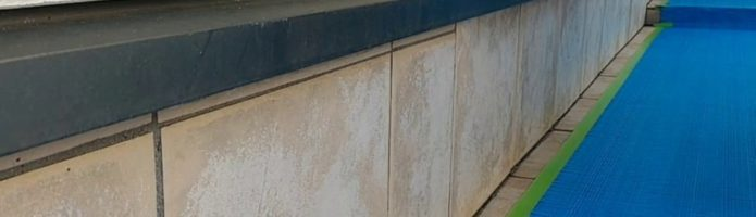 外壁塗装埼玉県富士見市諏訪より 基礎水切り錆止め塗装作業