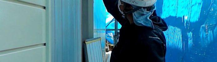 外壁塗装埼玉県川越市岸町より 雨戸塗装作業