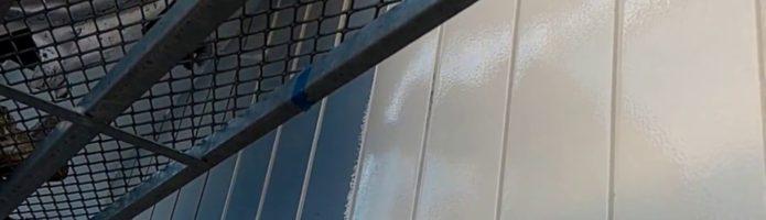 外壁塗装埼玉県川越市岸町より 金属サイディング上塗り作業