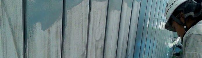 外壁塗装埼玉県川越市岸町より 金属サイディング錆止め作業
