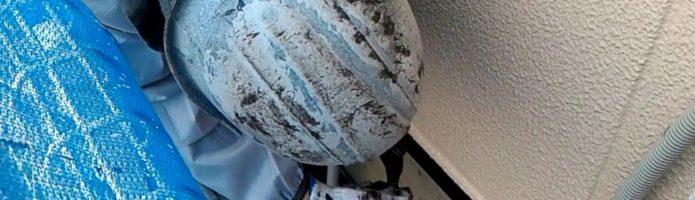 外壁塗装埼玉県入間市鍵山より 基礎水切り上塗り作業