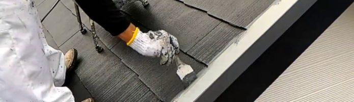 外壁塗装埼玉県富士見市諏訪より コロニアル屋根アステック無機ハイブリットコート塗装