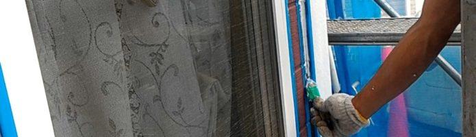 外壁塗装埼玉県川越市木野目より サイディング壁のシーリング作業