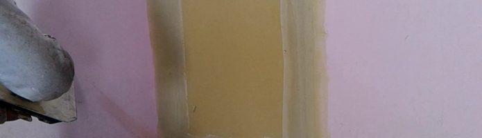 外壁塗装埼玉県富士見市諏訪より 石膏ボードのパテ処理 下パテ