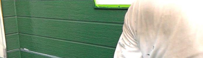 外壁塗装埼玉県川越市木野目より サイディング壁の上塗り作業