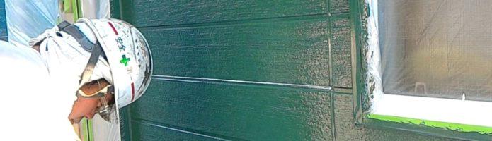 外壁塗装埼玉県川越市木野目より サイディング壁セラマックス1500Si-JY塗装