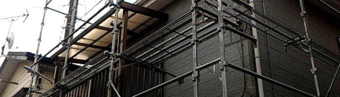 外壁塗装埼玉県富士見市諏訪より 仮設足場設置