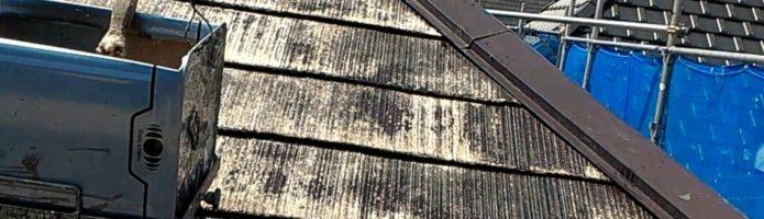 外壁塗装埼玉県富士見市渡戸より コロニアル屋根の下塗り2回目作業
