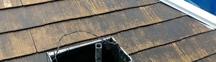 外壁塗装埼玉県富士見市渡戸より コロニアル屋根の上塗り作業