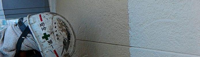 外壁塗装東京都東久留米市小山より サイディング壁の上塗り作業