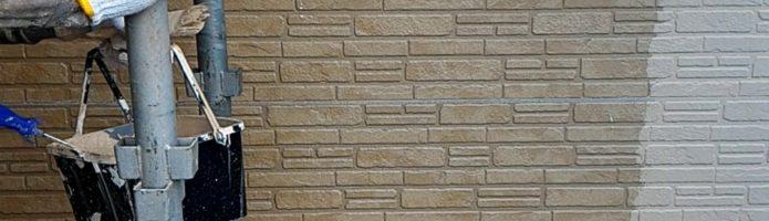 外壁塗装東京都東久留米市小山より タイル調サイディングの上塗り作業